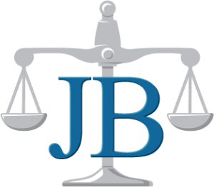 Orange County Injury Attorney, Law Office of John P. Burns logo, justice scale