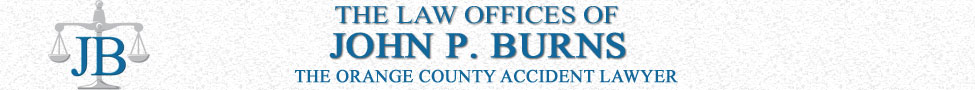 Orange County Injury Attorney, Law Offices of John P. Burns logo, The Orange County Accident Lawyer