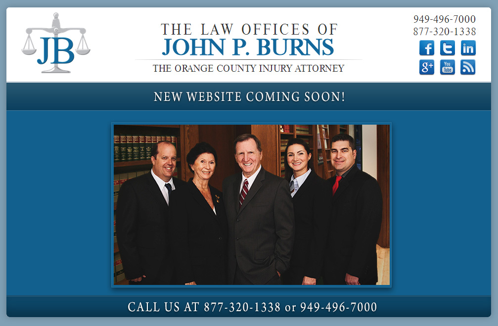 Orange County Injury Attorney, New Website, Coming soon a new website
