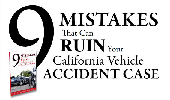 Orange County Injury Attorney, Mistakes That Can Ruin Your California Vehicle Accident Case, Car Accident