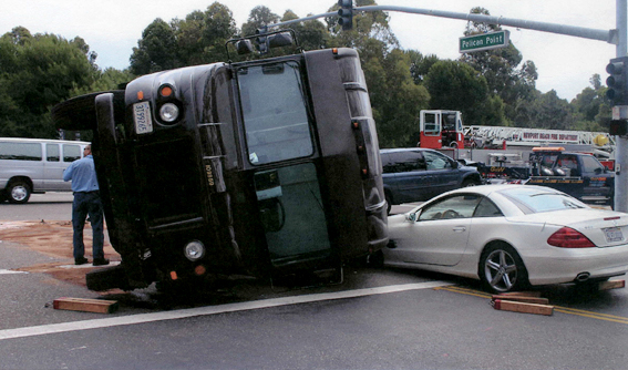 Orange County Injury Attorney, UPS Driver Accident, Automobile crash
