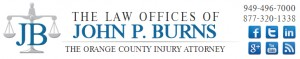 Orange County Injury Attorney, the law offices of John P. Burns, Personal Injury attorney