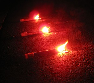road flares, 10 emergency kit items, accident attorney orange county