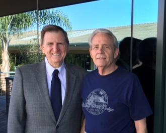 Photo of Tim Bellinger and John Burns